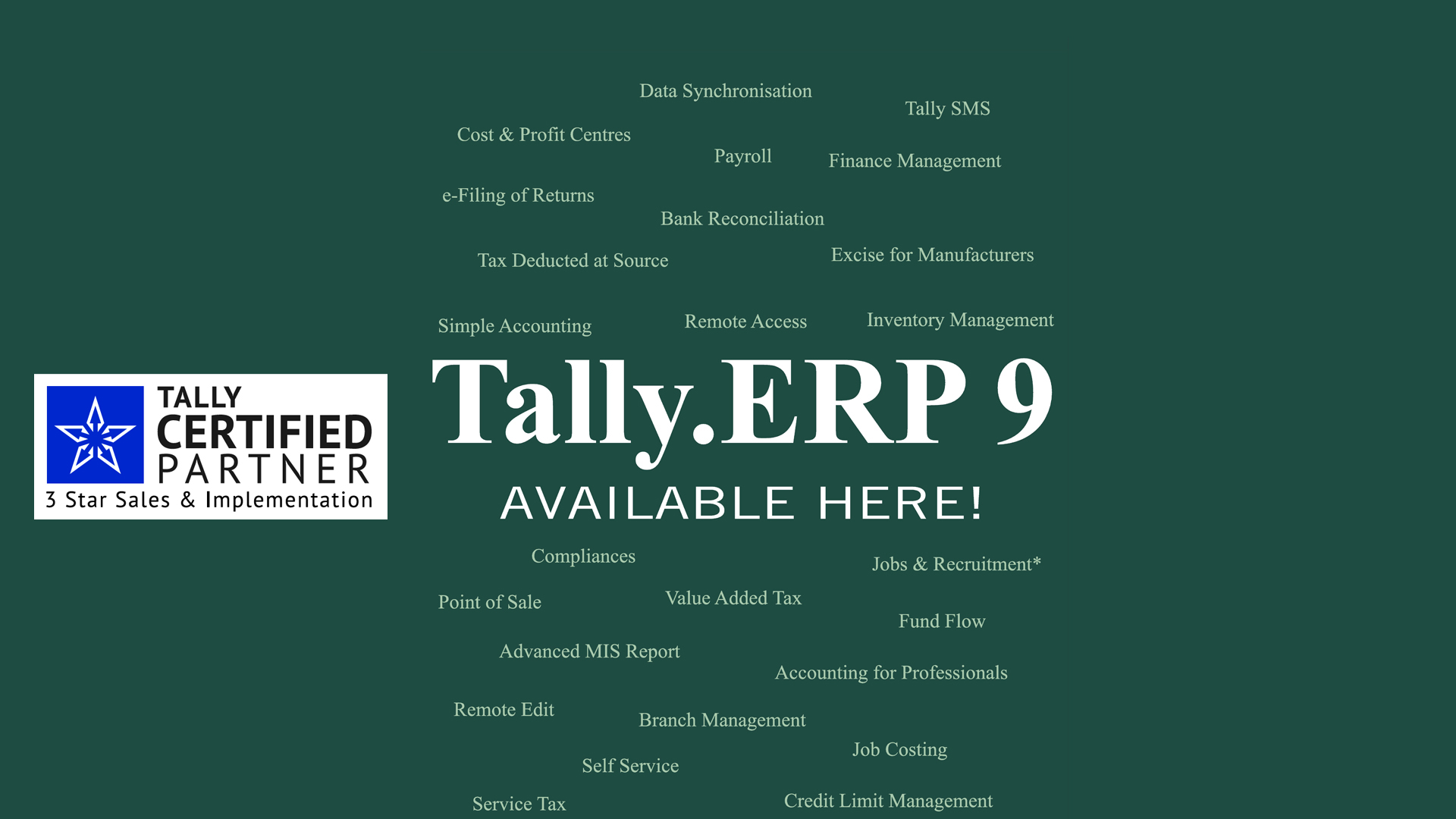 Tally ERP 9 Available Here